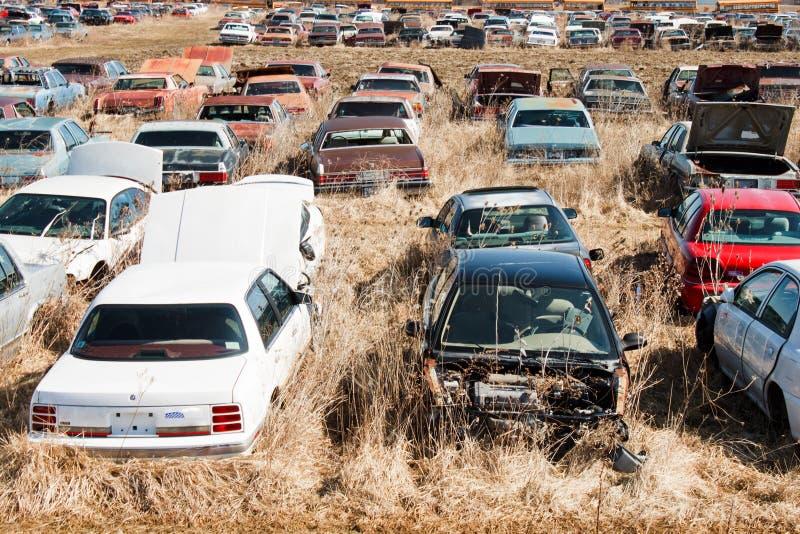 αυτοκίνητα junkyard στοκ φωτογραφία