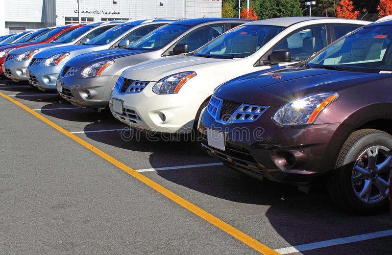αυτοκίνητα lineup στοκ εικόνες