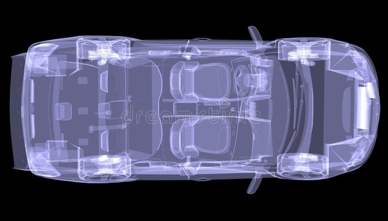 Αυτοκίνητο έννοιας ακτίνας X διανυσματική απεικόνιση