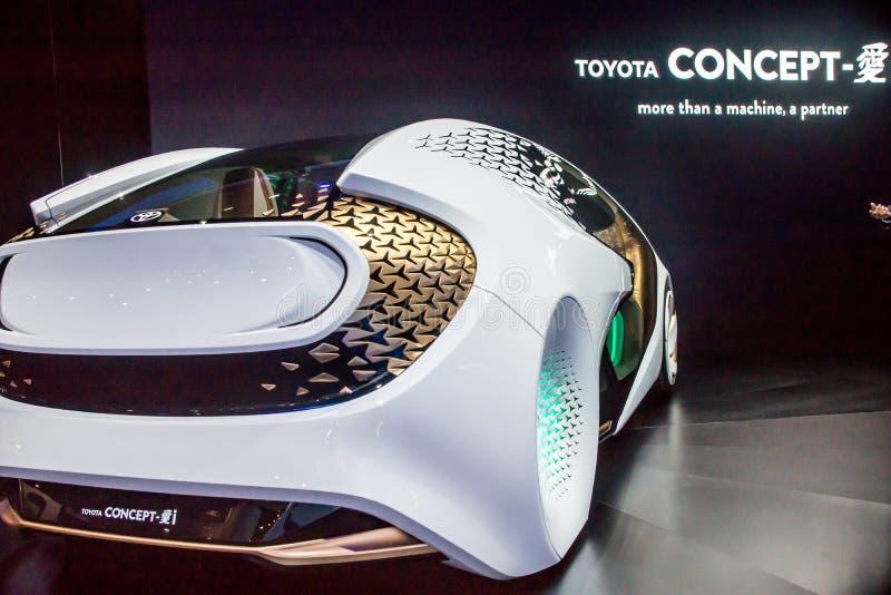 Αυτοκίνητο έννοιας της Toyota σε CES 2017 στοκ εικόνα
