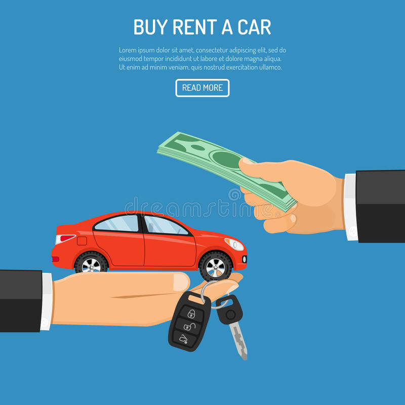 Αυτοκίνητο αγορών ή ενοικίου απεικόνιση αποθεμάτων