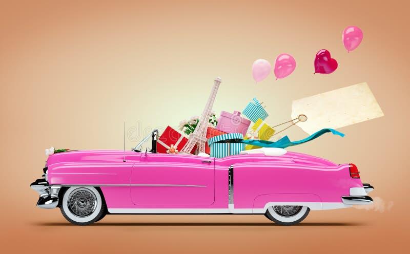 Αυτοκίνητο αγορών διανυσματική απεικόνιση