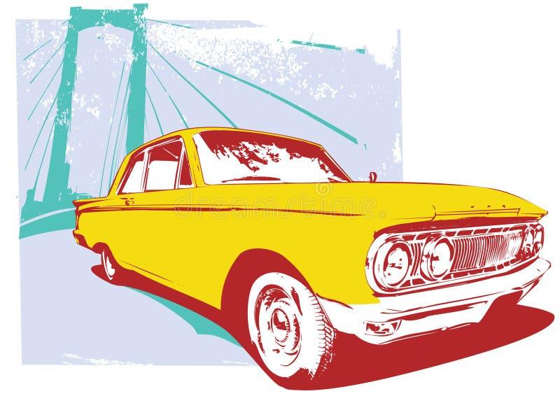 αυτοκίνητο αναδρομικό απεικόνιση αποθεμάτων