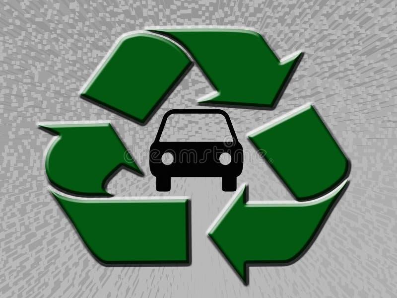 αυτοκίνητο ανακύκλωσης απεικόνιση αποθεμάτων