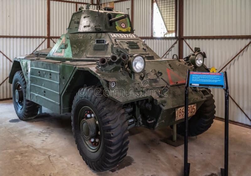 Αυτοκίνητο ανιχνεύσεων Lelyand με το γυρίζοντας πυργίσκο, Δαρβίνος Αυστραλία στοκ εικόνα με δικαίωμα ελεύθερης χρήσης