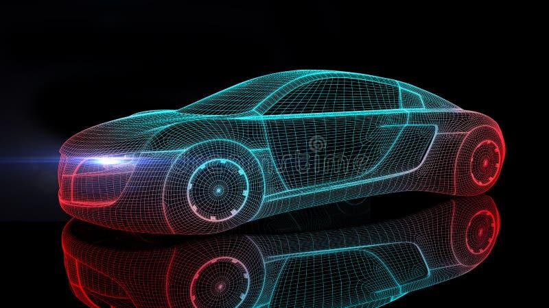 Αυτοκίνητο από το μέλλον απεικόνιση αποθεμάτων