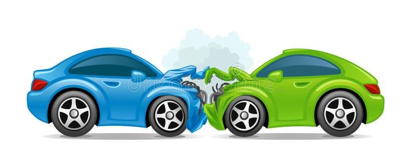 Αυτοκίνητο ατυχήματος απεικόνιση αποθεμάτων
