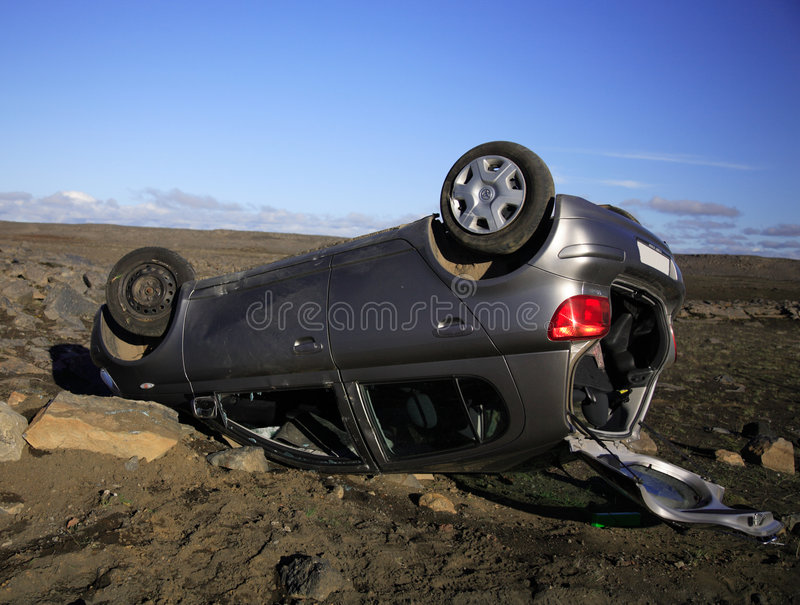 αυτοκίνητο ατυχήματος στοκ φωτογραφίες
