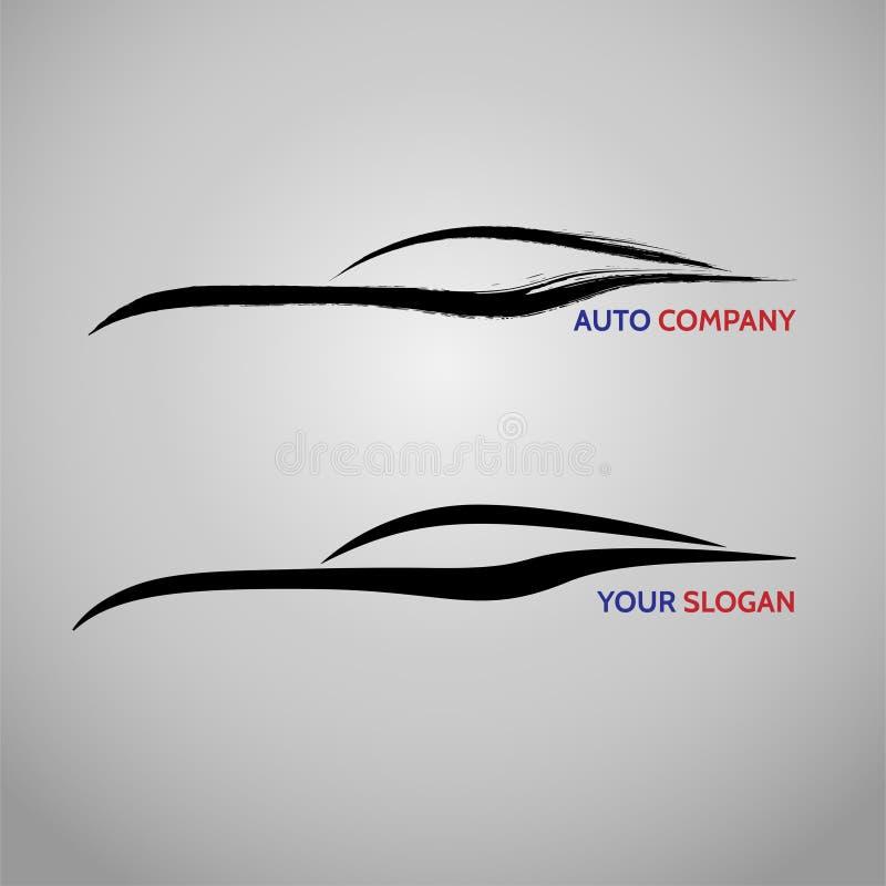 Αυτοκίνητο αυτοκινήτων λογότυπο υπηρεσιών ταχύτητας αυτόματο διανυσματική απεικόνιση
