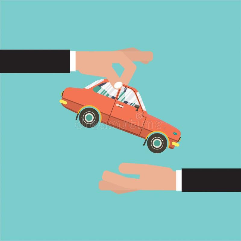 Αυτοκίνητο για το διάνυσμα συμφωνίας πωλήσεων οχημάτων διανυσματική απεικόνιση