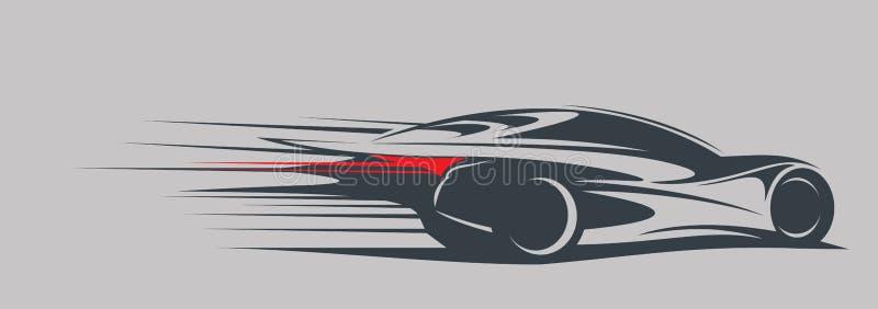 αυτοκίνητο γρήγορα διανυσματική απεικόνιση