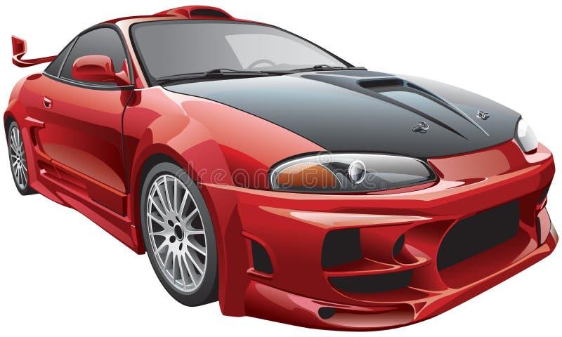 Αυτοκίνητο διαβόλων διανυσματική απεικόνιση
