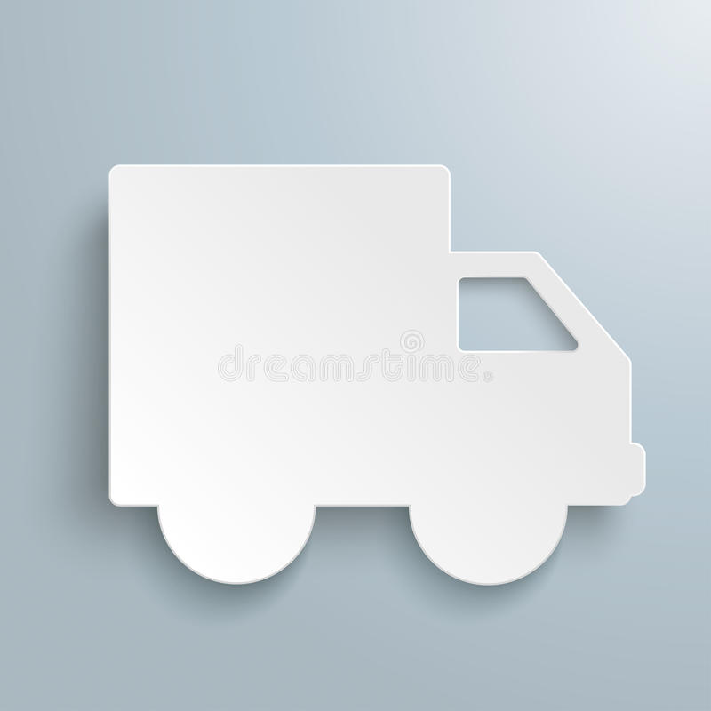 Αυτοκίνητο εγγράφου φορτίου αποστολής διανυσματική απεικόνιση