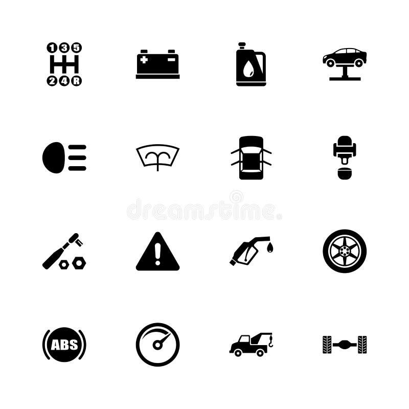 Αυτοκίνητο - επίπεδα διανυσματικά εικονίδια διανυσματική απεικόνιση