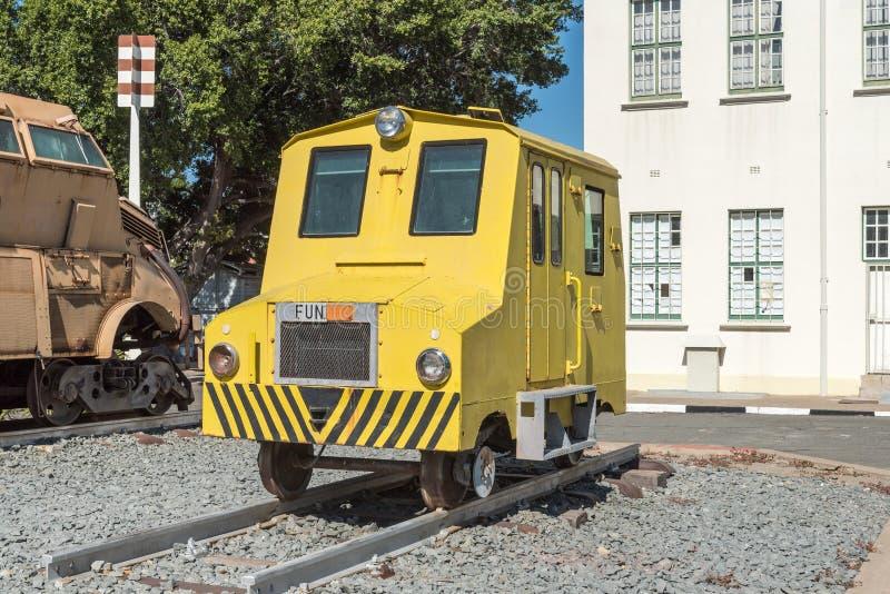Αυτοκίνητο επιθεώρησης σιδηροδρομικών γραμμών στο Windhoek στοκ εικόνες με δικαίωμα ελεύθερης χρήσης