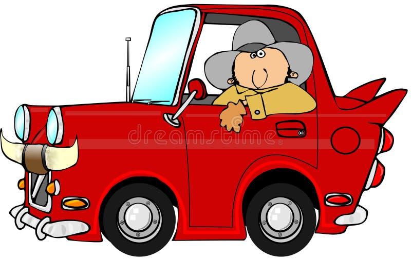 Αυτοκίνητο κάουμποϋ διανυσματική απεικόνιση