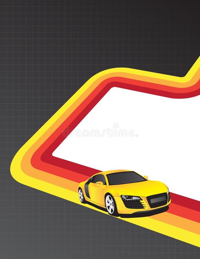 αυτοκίνητο κίτρινο ελεύθερη απεικόνιση δικαιώματος