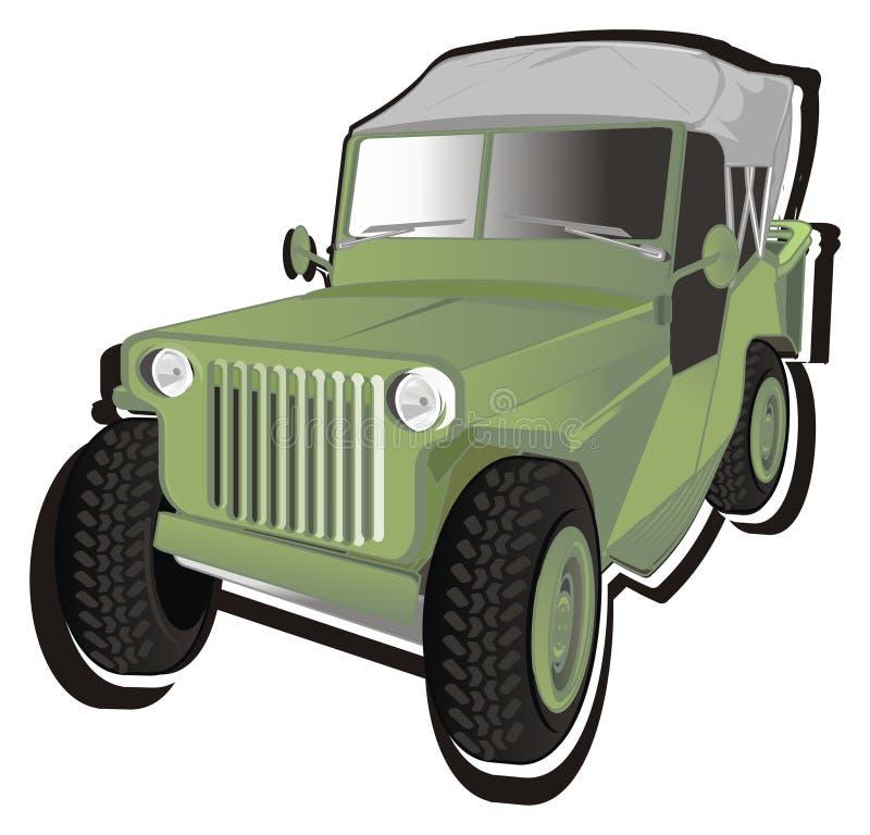 Αυτοκίνητο και σκιά στρατού απεικόνιση αποθεμάτων