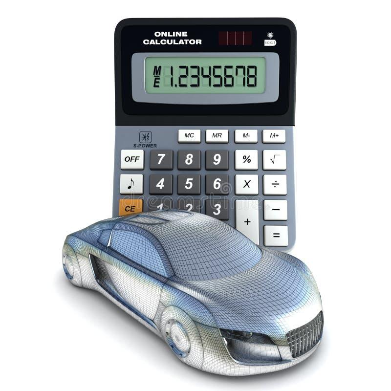 Αυτοκίνητο και υπολογιστής διανυσματική απεικόνιση