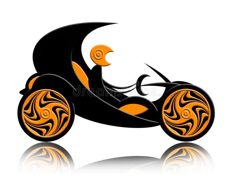 αυτοκίνητο καμπριολέ αν&alph διανυσματική απεικόνιση