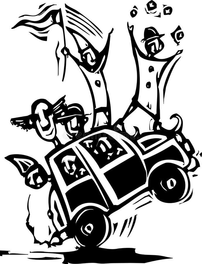 Αυτοκίνητο κλόουν ελεύθερη απεικόνιση δικαιώματος