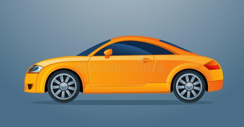 αυτοκίνητο λίγα κίτρινα απεικόνιση αποθεμάτων