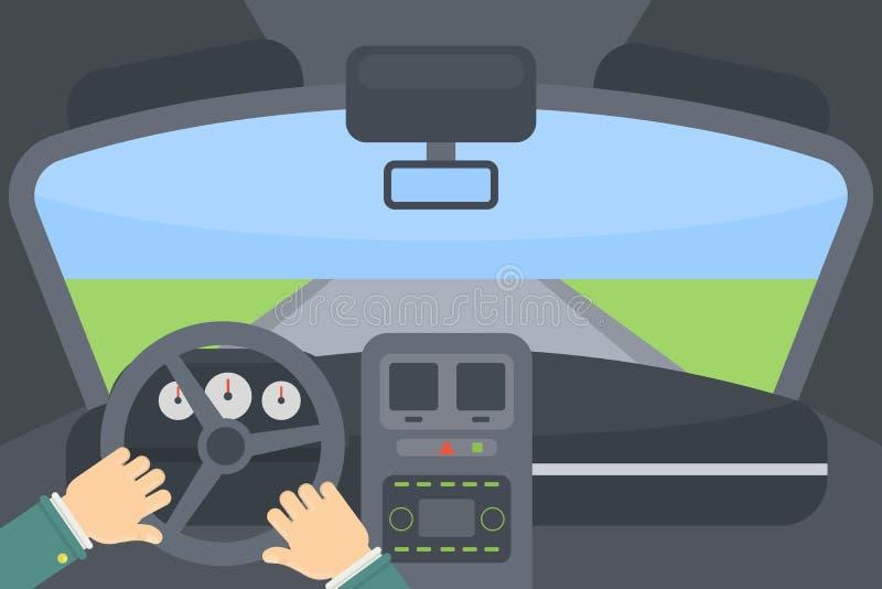 αυτοκίνητο μέσα ελεύθερη απεικόνιση δικαιώματος