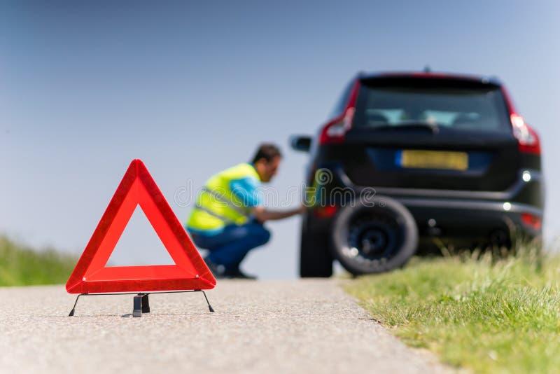 Αυτοκίνητο με μια διακοπή στοκ εικόνα με δικαίωμα ελεύθερης χρήσης