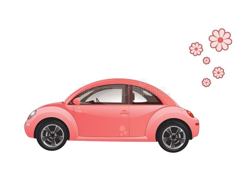 Αυτοκίνητο με τα λουλούδια ελεύθερη απεικόνιση δικαιώματος