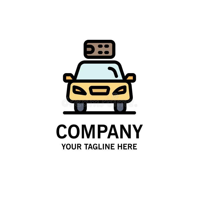 Αυτοκίνητο, οικολογία, ηλεκτρική, ενέργεια, πρότυπο επιχειρησιακών λογότυπων δύναμης Επίπεδο χρώμα ελεύθερη απεικόνιση δικαιώματος