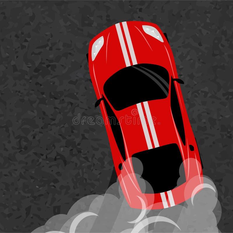 Αυτοκίνητο ουδετεροποίησης, ιαπωνικό σπορ αυτοκίνητο κλίσης, οδός που συναγωνίζεται, στροβιλοσυμπιεστής, συντονισμός Διανυσματική διανυσματική απεικόνιση