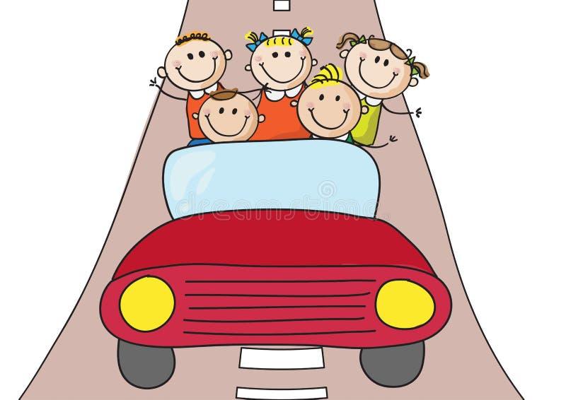 Αυτοκίνητο παιδιών ελεύθερη απεικόνιση δικαιώματος