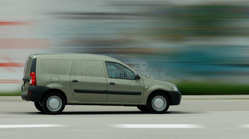 Αυτοκίνητο παράδοσης στην κίνηση στοκ εικόνες