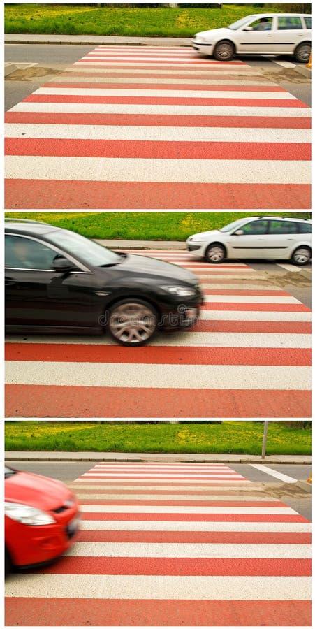 αυτοκίνητο που διασχίζ&epsil στοκ φωτογραφίες με δικαίωμα ελεύθερης χρήσης