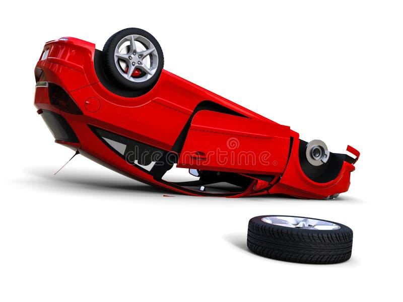 αυτοκίνητο που καταστρέφεται διανυσματική απεικόνιση