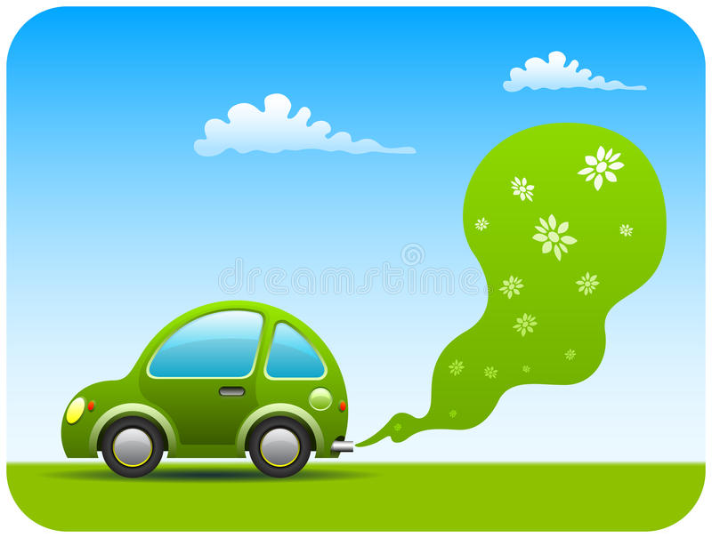 αυτοκίνητο πράσινο διανυσματική απεικόνιση