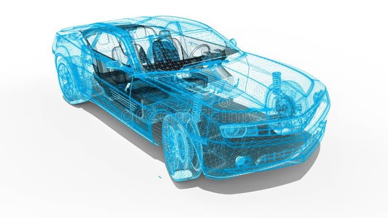 Αυτοκίνητο πλαισίων καλωδίων ελεύθερη απεικόνιση δικαιώματος