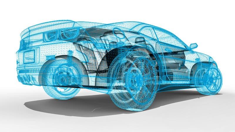 Αυτοκίνητο πλαισίων καλωδίων διανυσματική απεικόνιση