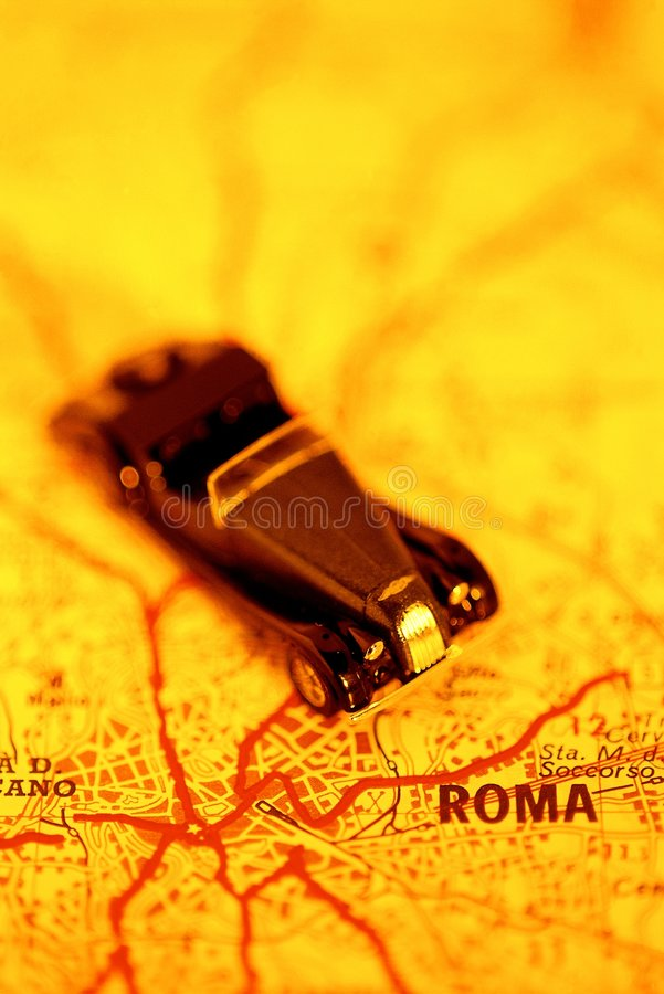 αυτοκίνητο Ρώμη στο ταξίδι στοκ φωτογραφίες με δικαίωμα ελεύθερης χρήσης