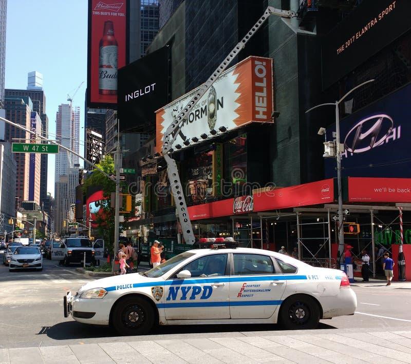 Αυτοκίνητο σπολών, Times Square, NYC, Νέα Υόρκη, ΗΠΑ στοκ φωτογραφίες