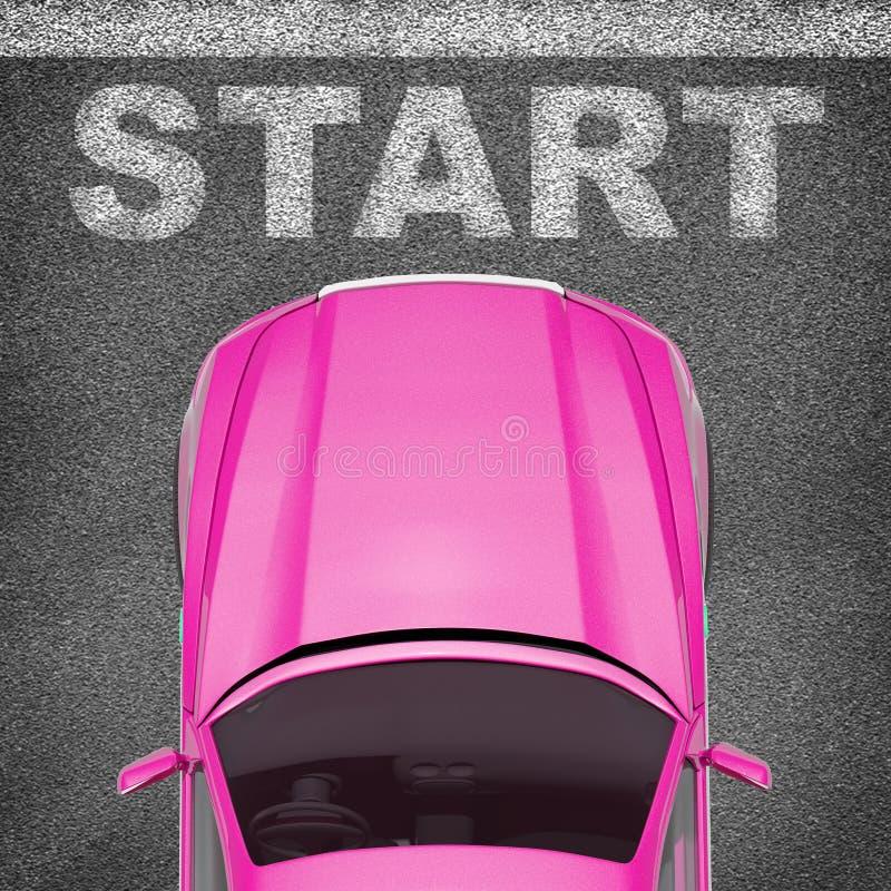 Αυτοκίνητο στο γκρίζο υπόβαθρο σύστασης ελεύθερη απεικόνιση δικαιώματος