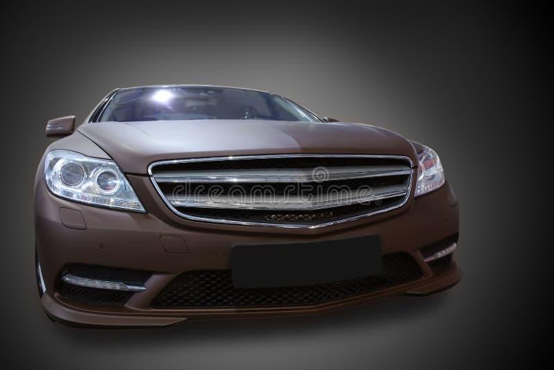 Αυτοκίνητο στο σκοτεινό κλίμα στοκ εικόνες