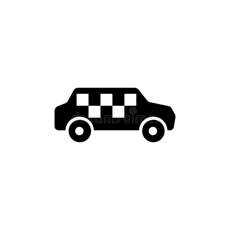 Αυτοκίνητο ταξί, διανυσματικό εικονίδιο αμαξιών ελεύθερη απεικόνιση δικαιώματος