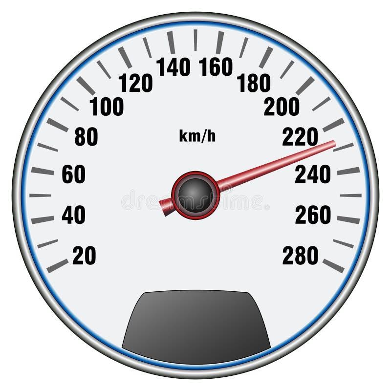 Αυτοκίνητο ταχύμετρο Spor, ταμπλό Διάνυσμα προσώπου επιτροπής μέτρου ταχύτητας αυτοκινήτων ελεύθερη απεικόνιση δικαιώματος