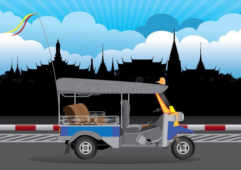 Αυτοκίνητο της Ταϊλάνδης Μπανγκόκ απεικόνιση αποθεμάτων