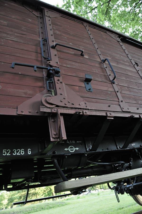 Αυτοκίνητο τραίνων φορτίου στο στρατόπεδο διέλευσης Westerbork στοκ φωτογραφίες