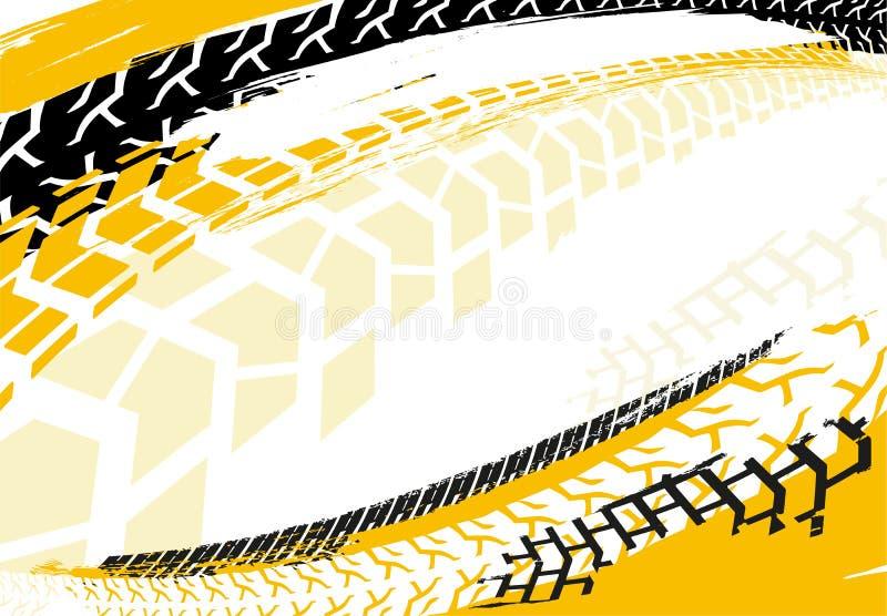 Αυτοκίνητο υπόβαθρο 23 ροδών διανυσματική απεικόνιση