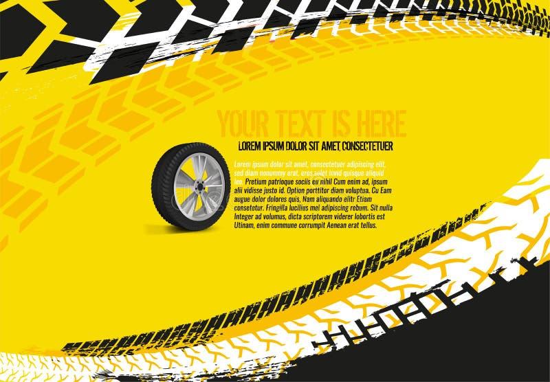 Αυτοκίνητο υπόβαθρο 33 ροδών απεικόνιση αποθεμάτων