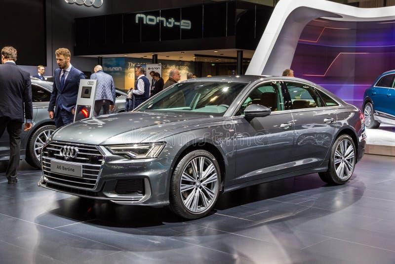 2019 αυτοκίνητο Audi A6 Berline στοκ εικόνα με δικαίωμα ελεύθερης χρήσης