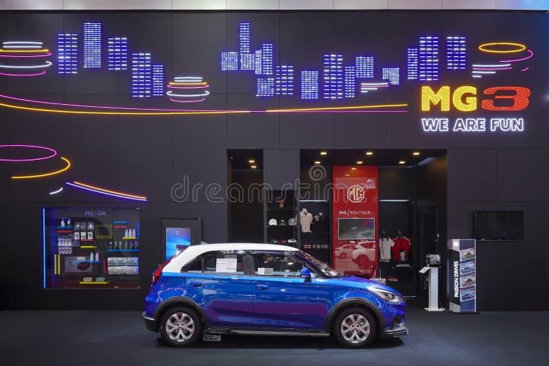 Αυτοκίνητο eco MG3 στην επίδειξη στη έκθεση αυτοκινήτου 2019 στοκ εικόνα
